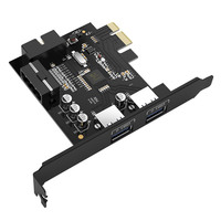 ORICO USB 3.0 PCI-E Erweiterungskarte Adapter PCI-E USB 3.0 HUB Controller Adapter Karte für Windows Vista PC Laptop (PVU3-2O2I)