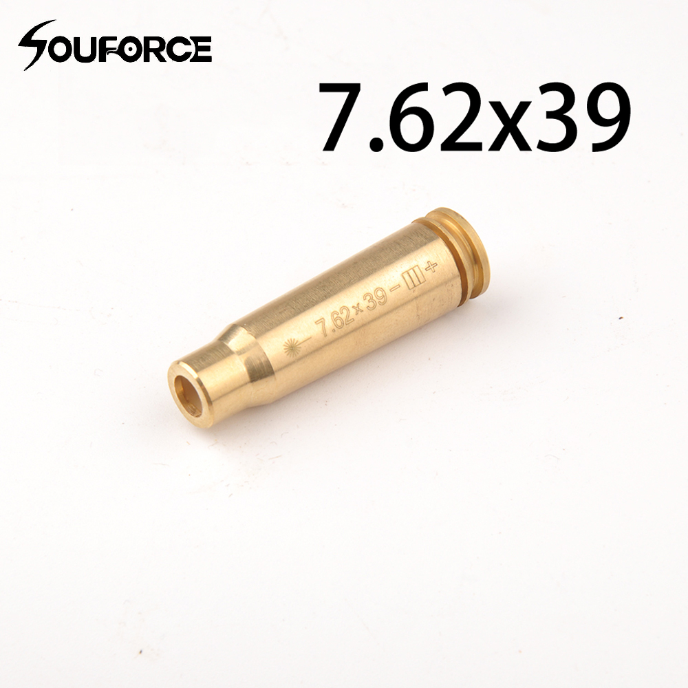 WholesaleTactical CAL: 7.62X39 Copper Cartridge Red Laser Bore Sighter Boresighter Air soft for Hunting Gun Accessories
