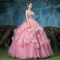 2018 новые розовые пышные платья 16 платьев для 15 лет с открытой спиной кружевные цветочные Бальные платья выпускные платья Vestidos De 15 Anos