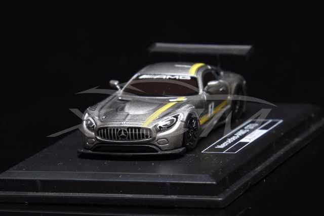 Resin Car Model Avan Style Mercedes Amg Gt3 1 87 Grey Yellow