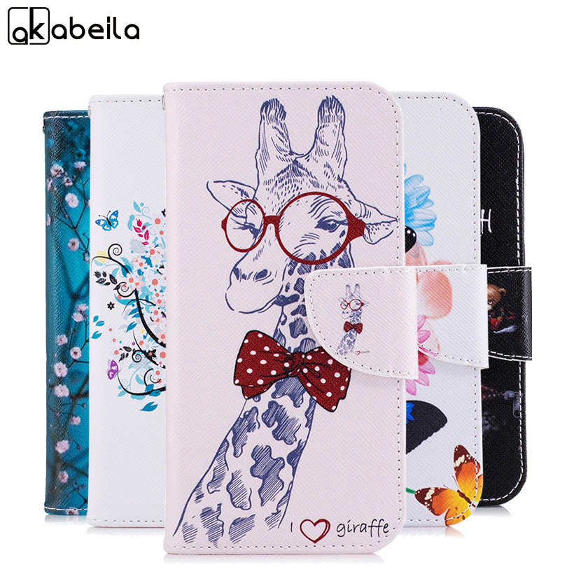 AKABEILA Phone Cases Cover For Motorola Moto G6 Moto G6 Plus Painted Leather Phone Bags Case Back Covers Shells Housings