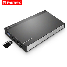Remax RPP-58 10000mAh mobile Phone Power Bank External Battery Pack With TF Card Expansion Slot Phone Battery Charge Treasure