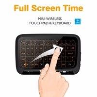 H18 + Air Chuột Bàn Phím Không Dây 2.4 Ghz Từ Xa Chuột với Backlit cho HTPC, IPTV, XBOX 360, PS3, PS4 Android TV Box, PC 10 Piece