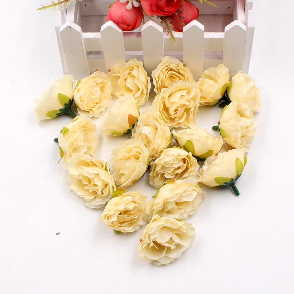 10st Blooming Peony Silk Konstgjord Blomma För Bröllopsfest Hem Rum - Semester och fester - Foto 2