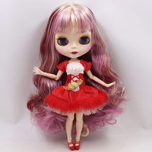 ICY Neo Blythe Doll Blonde Pink Purple Hair Jointed Body 30cm