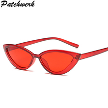 Mały kot oko okulary przeciwsłoneczne damskie okulary przeciwsłoneczne dla kobiet okulary przeciwsłoneczne 90s śliczne okulary przeciwsłoneczne okulary przeciwsłoneczne okulary przeciwsłoneczne UV400 tanie tanio PATCHWERK WOMEN Cat eye Dla dorosłych Z tworzywa sztucznego 36 mm Poliwęglan 60 mm