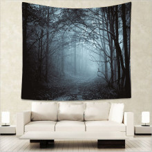 Night Forest Tapestry Bohemian Wall Hanging Starry for Home Decorations Tapestries