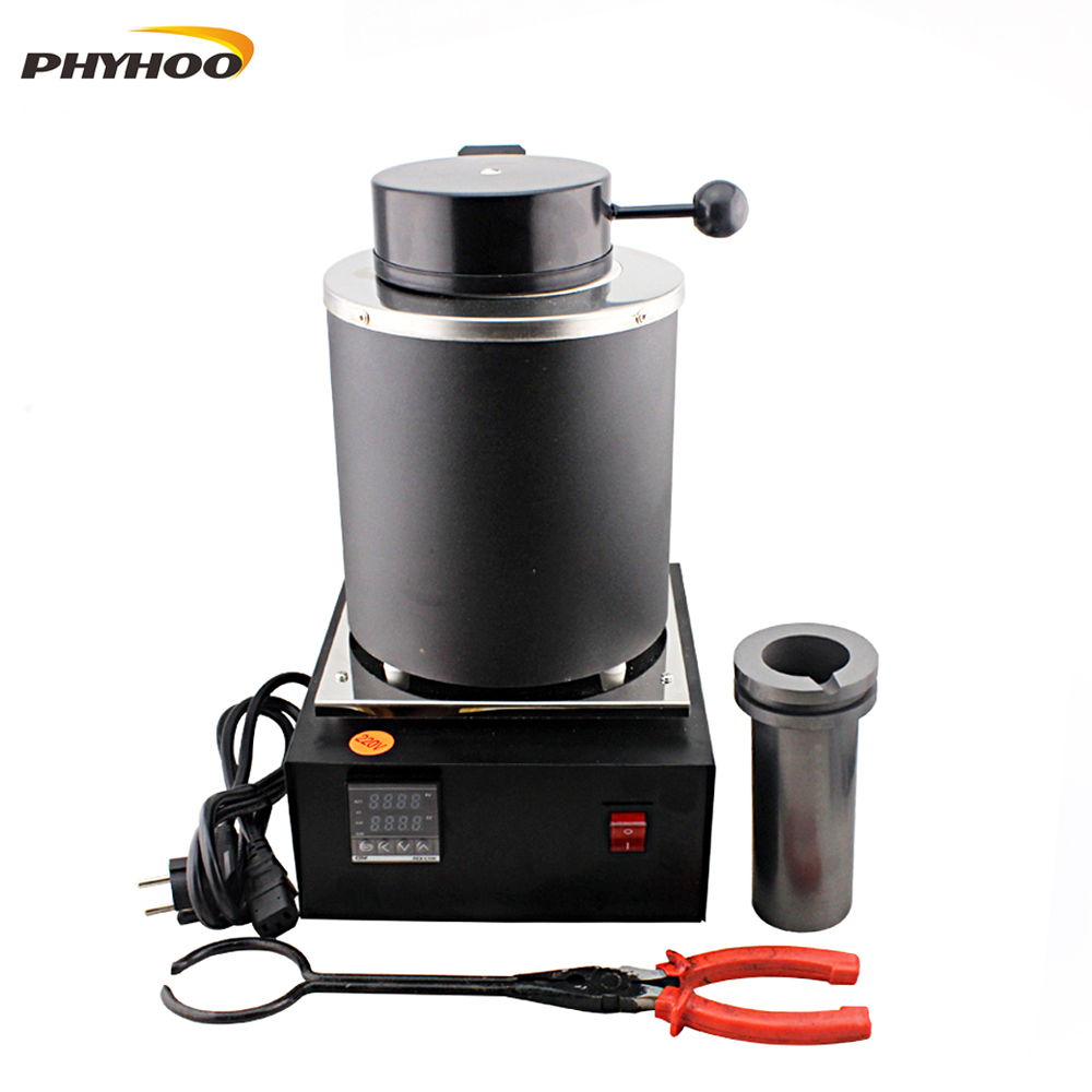 2KG Capacity Gold Electric Melting Furnaces with 1pc Graphite Crucible & Plier,Smelting furnace goldsmith