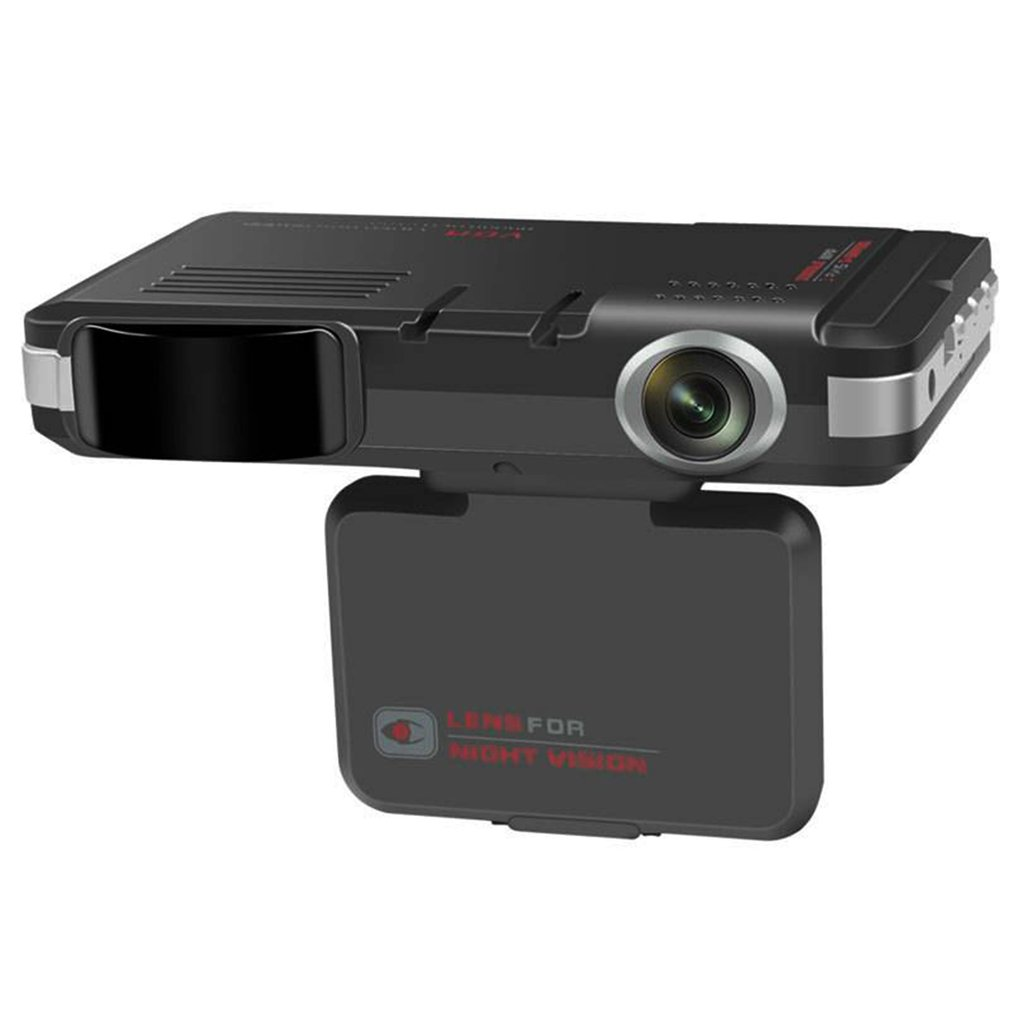 2 en 1 Radar del coche DVR Dash Cam Vídeo Láser velocidad visión nocturna Detector detección de Radar GPS Cámara LED de grabación pantalla para Rusia