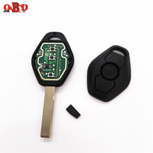 цена на HKOBDII 433/315MHz 3 Buttons General Straight Remote Car Key 7935/ID44 Chip FOR BMW X3 X5 E38 E39 E46 EWS HU92 Blade