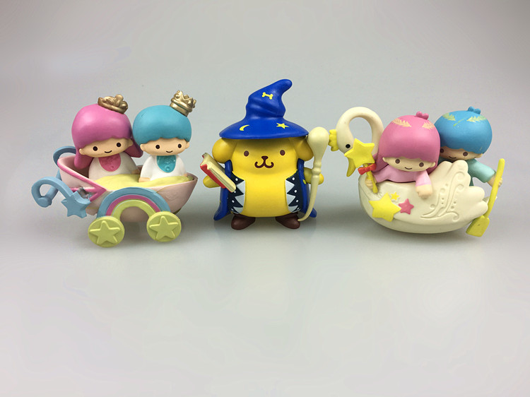 Kids Toys Action Figure: Cute Little Twin Star Kiki Lala Figures Doll Pom Pom Purin