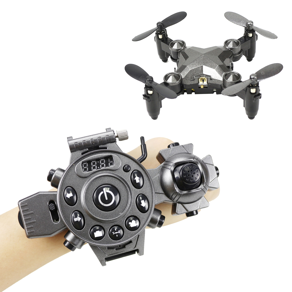 Watch Control RC Drone Foldable Quadcopter Altitude Hold G-Sensor Control Headless Mode One Key Return High Medium Low Speed Toy