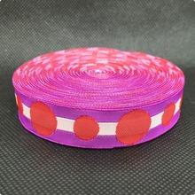 5/8 16mmX10yards/lot  Zakka handmade accessories Cartoon ribbon laciness Jacquard Ribbon with multicolour dot free shipping