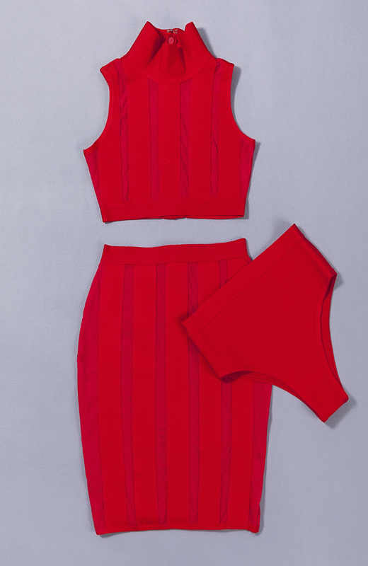 Сексуальная Женская одежда короткий бандажный укороченный топ и юбка без рукавов с круглым вырезом застежка-молния комплект из 3 предметов платье по Заводской Цене Leger Babe