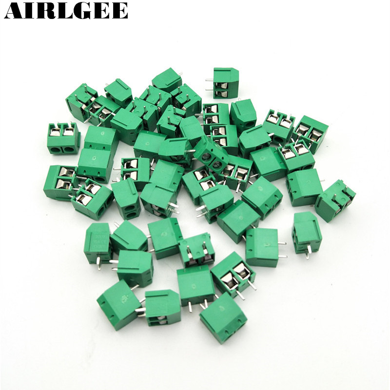 50Pcs 300V 15A 2Position PCB Board Screw Terminal Block Connector 5mm Pitch Free shipping 10 sets 5 08 3pin right angle terminal plug type 300v 10a 5 08mm pitch connector pcb screw terminal block free shipping