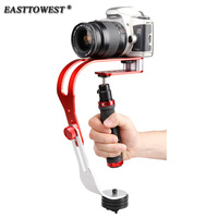 Mini HandHeld Aluminum Alloy Steadicam Curve Compact Camera Stabilizer For DSLR Cannon Nikon Gopro Hero 4