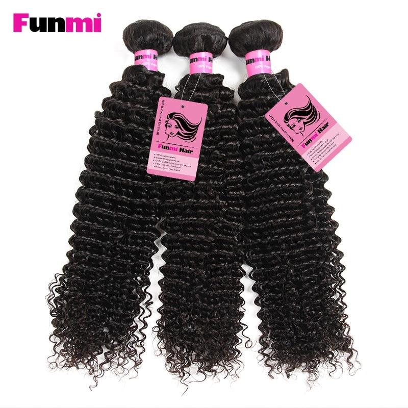 Funmi Raw Indian Kinky Curly Bundles med Closure 4 Bundles med - Barbershop - Foto 5