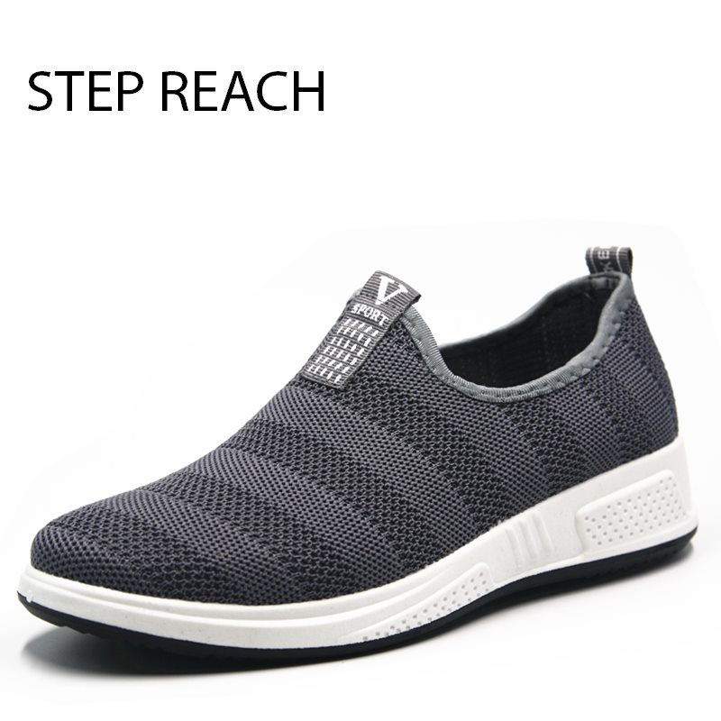 STEPREACH Brand shoes men tenis masculino adulto sneakers chaussure homme tenis feminino breathable loafers casual slip-on rubbe ...