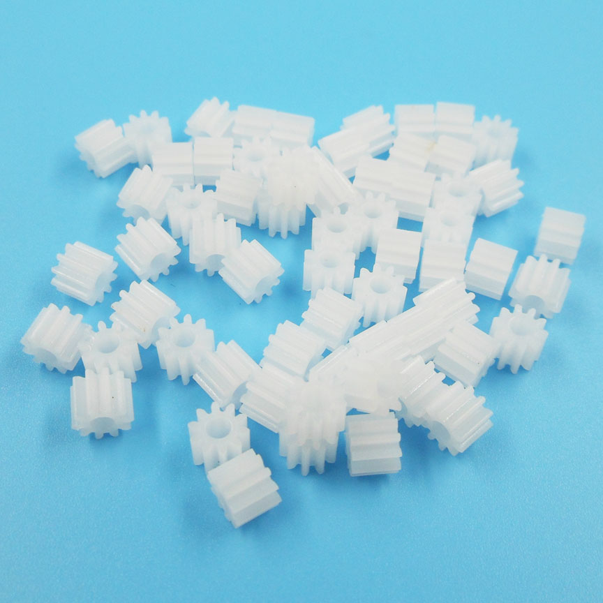 102.5A Gears Modulus 0.5 10 Tooth Plastic Gear Motor Model Parts Toy Accessories 100pcs/lot
