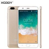 Origional XGODY Unlock 4G LTE Smart Phone 5.5 Pollice Android 6.0 MTK6580 Quad Core 1 GB + 16 GB Unlock Dual Sim Del Telefono Mobile cellulare