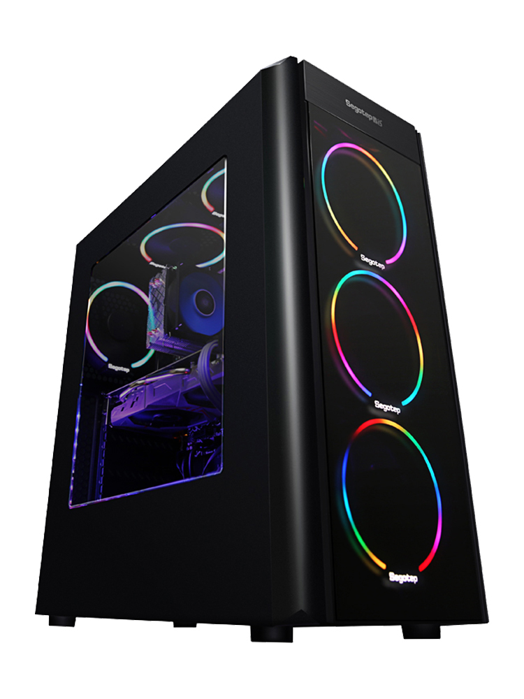 GETWORTH S10 Desktop PC Gaming Computer Intel I5 8500 GTX 1060 5GB Video Card CB360M 320GB SSD 8GB RAM 6 Colorful Fans 500W PSU getworth s9 amd desktop ryzen5 2600 gtx1050ti 4g msi a320m intel 180g ssd 8g ram free rgb fans pubg accpet customization white