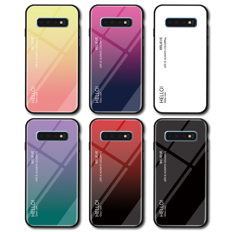 Image 4 - Gradient Tempered Glass Phone Case For Samsung Galaxy S10 Lite S8 S9 Plus S7 edge Colorful Cover For Samsung Note 8 9 M20 Case-in Fitted Cases from Cellphones & Telecommunications