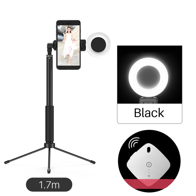 170cm 67in Bluetooth Selfie Stick Tripod with Ring Light Selfie Beauty Portrait Fill Lighting for iPhone XS 7plus Huawei P20 Pro
