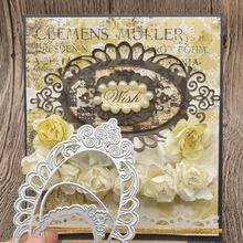Lace Flowers Frame Metal Stencil Dies Cutting For Scrapbooking Album Wedding Card Gift Decoration