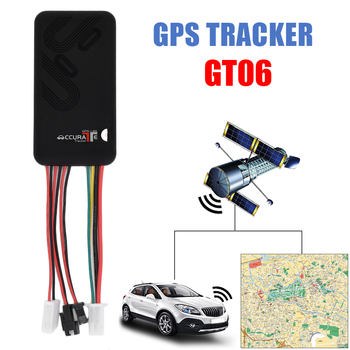 10pcs/lot GT06 Car Mini GPS Tracker Vehicle GPS real time PC tracking system monitor GPRS motocycle Locator car gps track kit image