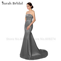 Silver Mermaid Mother Of The Bride Dresses 2015 New Arrivals Strapless Long Party Prom Dress Vestidos