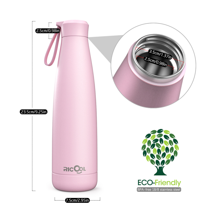 500ML Double Wall Insulated Bottle Vacuum Flask Stainless Steel Sport Water Bottle For 24 Hour Cold 12 Hour Hot For Sport Hiking in Vacuum Flasks Thermoses from Home Garden