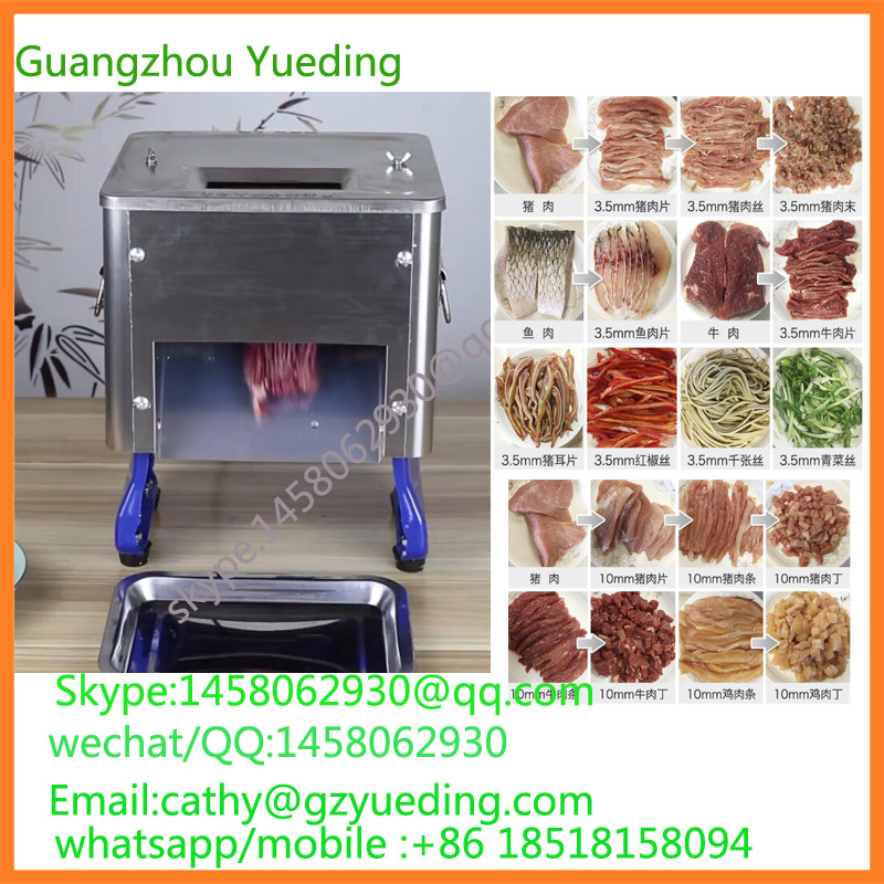 Home Restaurant Industrial Use Automatic Stainless Steel Small Meat Cutting Machine For Slice Strip Diced Shape