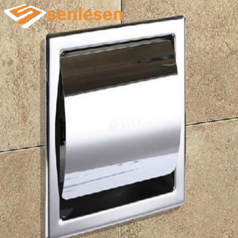 Wholesale And Retail Free Shipping NEW Polished Stainless Steel Toilet Paper Holder Roll Tissue Holder Wall Mounted wholesale and retail luxury polished golden bathroom toilet paper holder tissue box wall mounted dual paper boxes