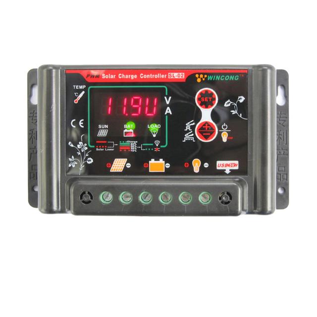 3A/10A/20A/30A Solar Charge Controller 6V 12V 24V 48V 60V LI-ION NI-MH LiFePO4 Battery Solar Panel