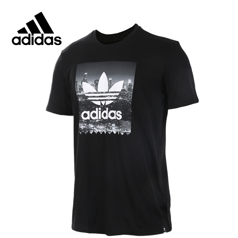 Adidas Original New Arrival Official Originals NY PHOTO TEE Men's T-shirts short sleeve Sportswear BR4972 original new arrival 2017 adidas originals men s t shirts short sleeve sportswear