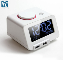 Chargeable Electronic Alarm Clock Desk Led Luminous Band Mute Thermometer Usb Charge Oversized Control LED Desktop Digital Clock