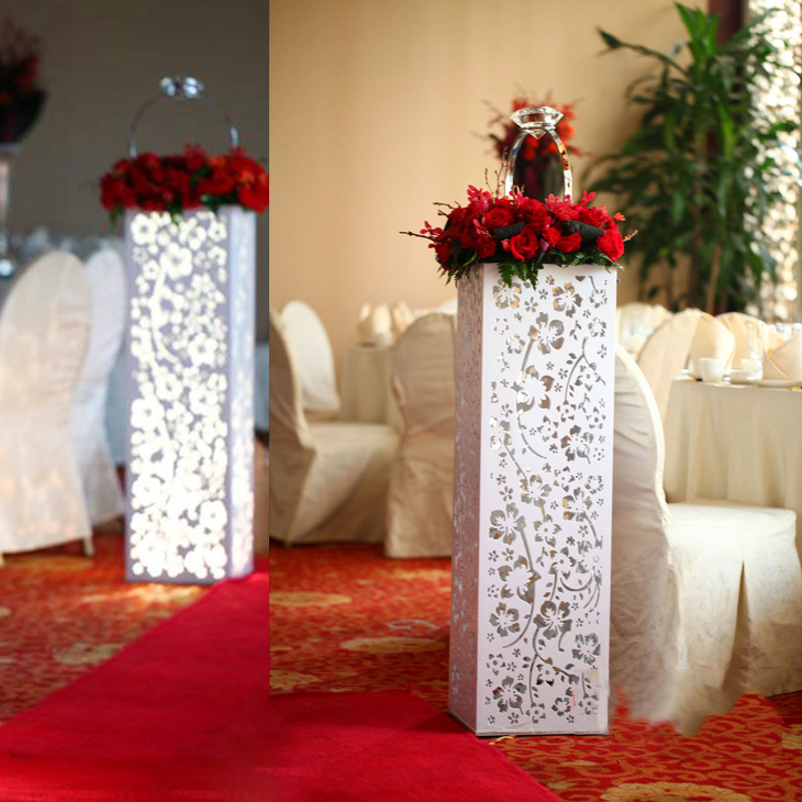 Wedding Pillars Wedding roman column Wedding Stands 4PCS/LOT With LED Lights
