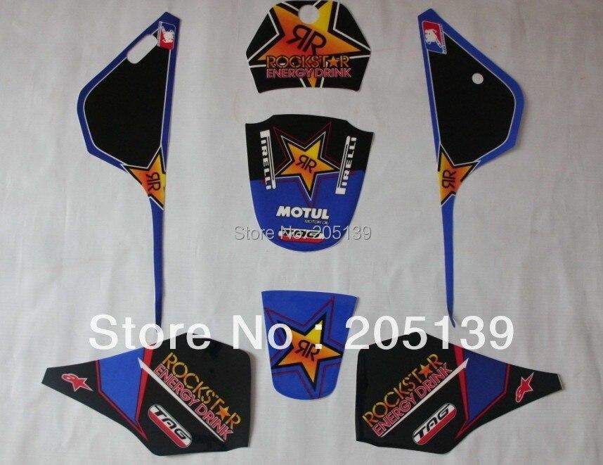Motocross motocicleta accessoires RACING PW80 3 m emblèmes kits graphiques muraux AUTOCOLLANT pour YAMAHA moto DIRT PIT BIKE PW 80