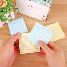 цена 20 pcs/Lot Classic memo pad Color paper Line sheets Diary planner sticky notes Message Stationery Office school supplies FM580 онлайн в 2017 году