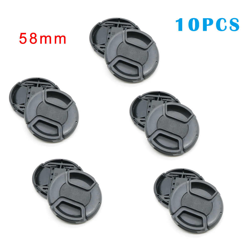58mm Center Pinch Snap-on Front Lens Cap Suitable for Nikon//for sony//for Canon//for Pentax//for Samsung Camera,With Anti-lost Rope