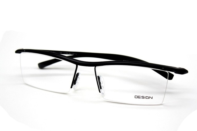 Мужчины титана front TR90 ЧЕРНЫЙ MORDERN ДИЗАЙН очки кадр очки на заказ-1-2-2.5-9 с просил цилиндра
