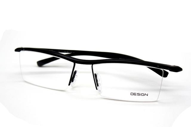 Hombres de titanio frente MORDERN DISEÑO gafas de marco TR90 NEGRO personalizado gafas-1-2-2.5 a 9 con solicitó cilindro
