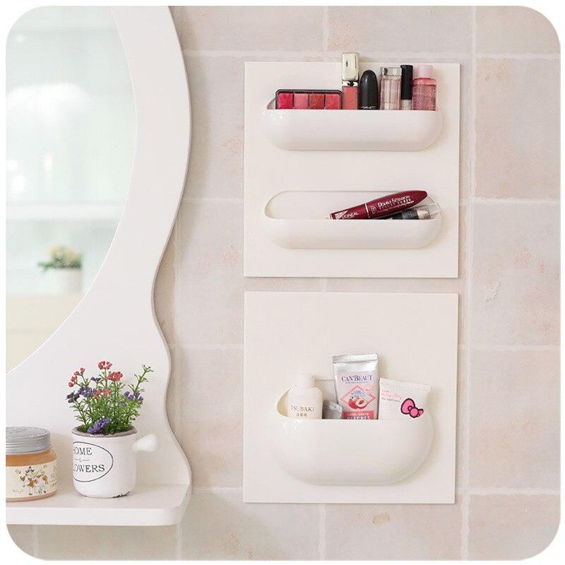1 4 Units Wall Mounted Storage Holder Bathroom Organizer Shelf For ...