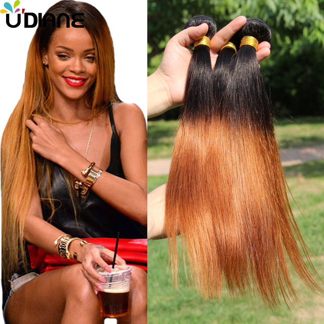 Virgin Brazilian Ombre Hair Extensions Straight Ombre Remy Hair