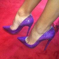 DorisFanny female 12cm Extremely High Heels White snake Thin Heel stilettos Sexy Lady Pumps Club Party extreme High Heels Women