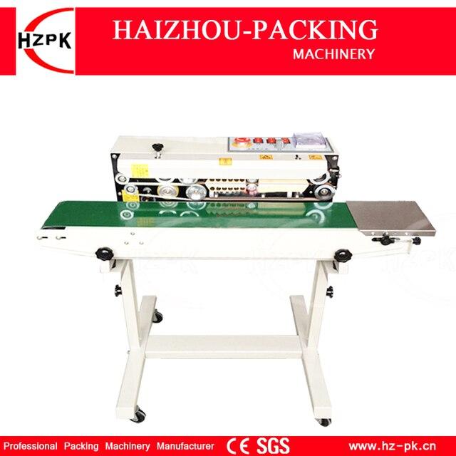 Hzpk Automatic Vertical Iron With Spray Type Sealer Continuous Plastic Film Sealing Machine Conveyor For Food Tea Bag Fr770