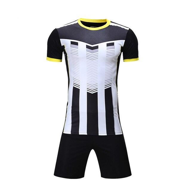 44be600b57 Conjuntos da equipe de futebol treinamento esportivo Dos Homens novos  camisas de futebol ternos botão quick