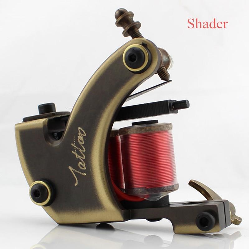 Une Machine de tatouage professionnelle en laiton 12 bobines d'enveloppe pour l'approvisionnement de Shader-CTM12S