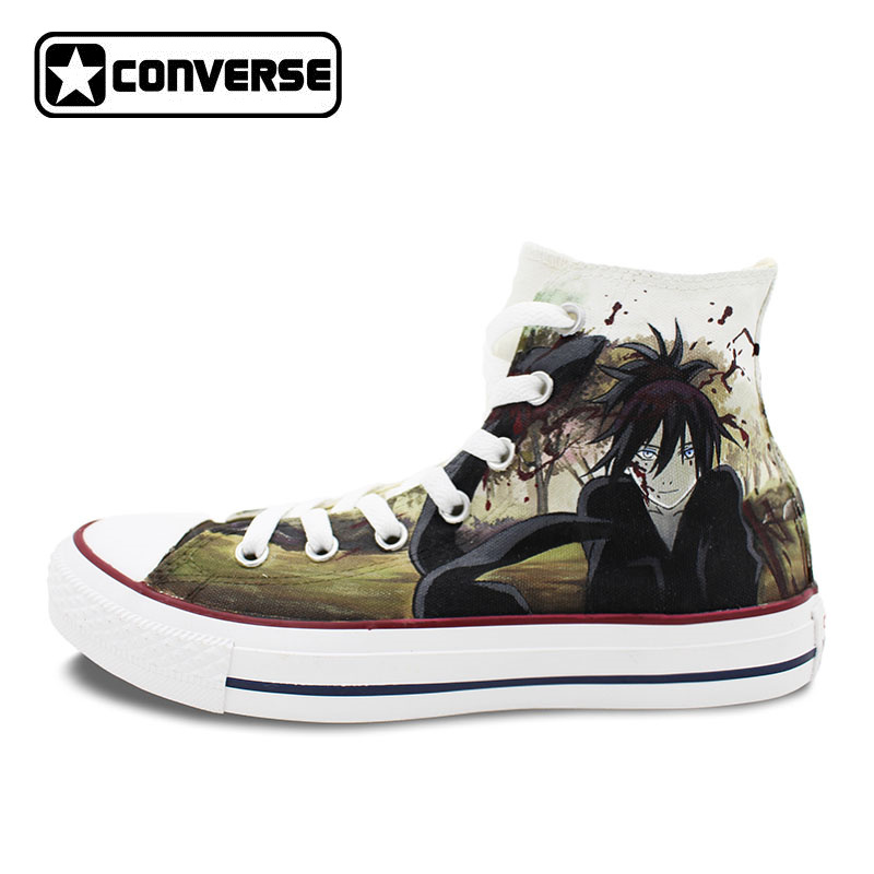 Women Men Converse All Star Noragami Anime Shoes Design Hand Painted Shoes Woman Man Sneakers Skateboarding Shoes Cosplay Gifts