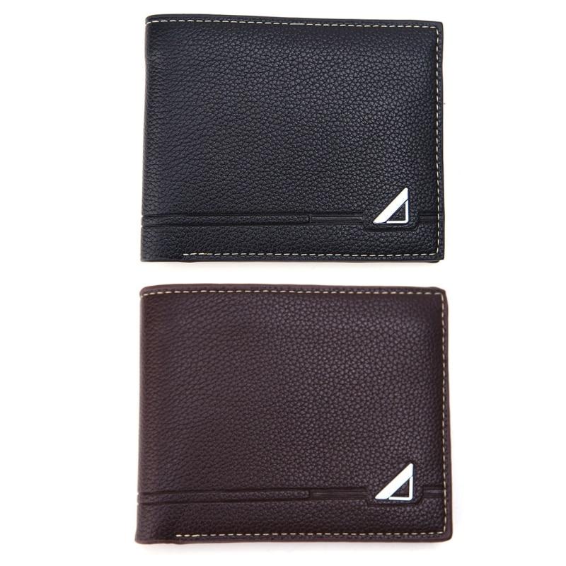 Fashion Men Bifold Business Wallet Card Holder Coin Pocket Money Purse Bag New business men wallet short bifold brand new money cash card holder zipper and hasp purse coin bag fashionable desi